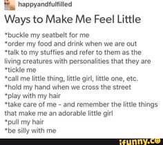 oh wow hihi these are just so right.. except hold my hand any time daddy, i will love it always