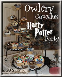 Owlery Cupcakes for a Harry Potter Party - post
