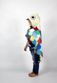 Rainbow Owl Cape Costume Childrens kids by sparrowandbcostumery