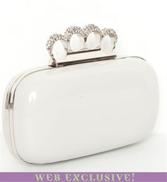 Beige Rhinestone Knuckle Clutch.. so cute $29.90
