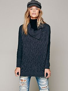 Free People Oversized Cable Poncho Free People Renaissance at Colony Park 601.605.0406 #shoprenaissance