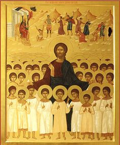 Icon of Christ and the Holy Innocents ( source ) An Orthodox Prayer for the Victims of Abortion O Lord Jesus Christ, the only-begott. Religious Pictures, Religious Icons, Religious Art, Byzantine Art, Byzantine Icons, Orthodox Prayers, Russian Icons, Faith In Love, Catholic Saints
