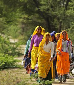 Rural Women Heading In the filed