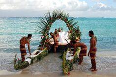 Samoan wedding canoe:)