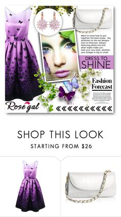 """Butterfly items-ROSEGAL"" by tanja133 ❤ liked on Polyvore"