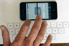 Type On An Invisible Keyboard Just By Placing Your iPhone On A Table -- Florian Krautli in Switzerland.