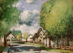 Vue de Ste-Rose (c. Canadian Painters, Canadian Artists, Watercolor Landscape, Landscape Art, Quebec, Canada Images, National Art, Z Arts, Impressionism