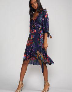 83fbb663e7331 Roseland Ruffle Wrap Dress – Cynthia Rowley Wrap Tie Dress, Georgette  Fabric, Fall Skirts