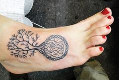 ankle tree tattoos for women | Tattoo photographs and images page. Huge collection of Celtic Tattoo ...
