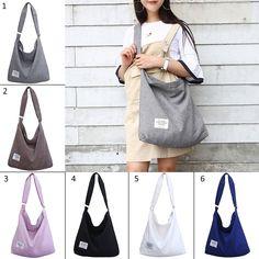 410c4262eba Amazon.com  Fanspack Women s Canvas Hobo Handbags Simple Casual Top Handle  Tote Bag Crossbody