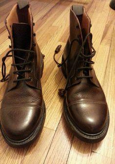 b074313d831 Crockett and Jones for Polo Ralph Lauren Boots Pebble Grain 8.5 B