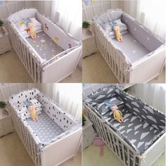 Bumpers Friendly 6pcs Cartoon Baby Bedding Sets Baby Crib Bumpers Bed Around Cot Bed Sheets 100%cotton Thickening Customizable Baby Beddings