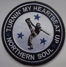 NORTHERN SOUL PATCH - TURNIN MY HEARTBEAT UP - NORTHERN SOUL DANCER Dancer Tattoo, Soul Tattoo, Soul Patch, Tamla Motown, Badge Logo, Sweet Soul, Northern Soul, Soul Music, In A Heartbeat