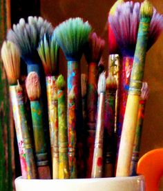 55 Best Ideas For Playroom Organization Diy Organize Toys Art Supplies Playroom . 55 Best Ideas For Playroom Organization Diy Organize Toys Art Supplies Playroom … 55 Best Ideas F World Of Color, Paint Brushes, Belle Photo, Art Studios, Love Art, Rainbow Colors, Artsy Fartsy, All The Colors, Art Supplies