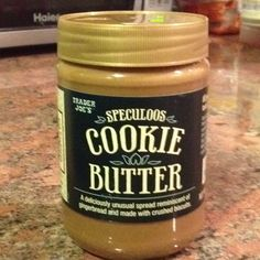 Cookie Butter!!! OMG amazing!  Get it at Trader Joe's :)  Seriously.  This stuff is Awesome.