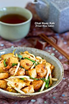 Char Koay Kak (Fried Rice Cake) is a popular Penang breakfast or supper street food usually served in small portions. Easy to prepare and super tasty.