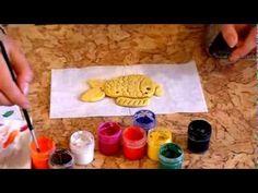 """Занятие 4. """"Золотая рыбка"""" из соленого теста. - YouTube"""
