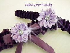 Royal Purple Wedding Garter Set / Purple by Buildagarterworkshop