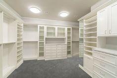 white master closet