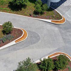 Projects :: QCP Landscape Plaza, Landscape Elements, Landscape Architecture Design, Landscape Walls, Urban Landscape, Modern Landscaping, Outdoor Landscaping, Urban Design Diagram, Parking Design
