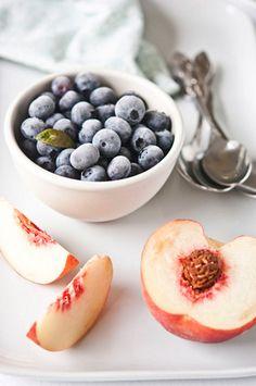 peach + blueberries