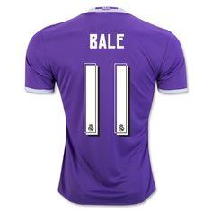 Real Madrid 16-17 Gareth Bale 11 Udebane Trøje Kortærmet.  http://www.fodboldsports.com/real-madrid-16-17-gareth-bale-11-udebane-troje-kortermet.  #fodboldtrøjer