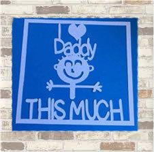 I <3 daddy this much papercutting template| Father's Day, birthday, thank you, gift| Commercial Licence|Instant download by QuirkyCraftsUK on Etsy