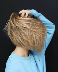 Copper Layered Bob with Bangs - 50 Classy Short Bob Haircuts and Hairstyles with Bangs - The Trending Hairstyle Bobbed Hairstyles With Fringe, Pixie Bob Hairstyles, Hairstyles Haircuts, Latest Hairstyles, Cute Bob Haircuts, Summer Haircuts, Short Hair Cuts, Short Hair Styles, Line Bob Haircut