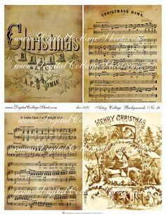 Christmas Collage Sheet - Christmas Music
