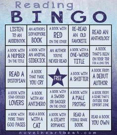 2016 Novel Heartbeat Reading Bingo Challenge