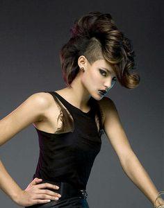 Short Wavy Punk Hairstyles For Women