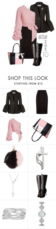 """""""Winter Capsule, Black Skirt"""" by piakarlson on Polyvore featuring Keepsake the Label, ESCADA, L'Academie, Harrods, BERRICLE, WithChic, M&Co, Kate Spade and Chaps"""