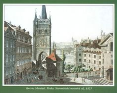 Old Town Bridge Tower Prague Photos, Czech Republic, Old Town, Old Photos, Big Ben, Barcelona Cathedral, 19th Century, Tower, Water Colors