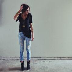black & bf jeans & more black