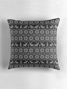 Black and white Xmas pattern by ValentinaHramov