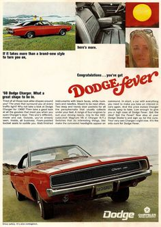 Pitching the 1968 Dodge Charger with style and performance