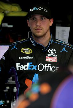 denny hamlin | Denny Hamlin Denny Hamlin, driver of the #11 FedEx Office Toyota ...
