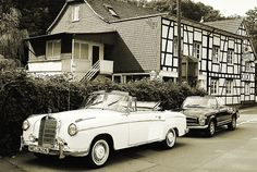 Two vintage Mercedes-Benz convertibles
