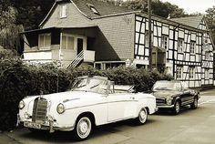 Two vintage Mercedes-Benz convertibles