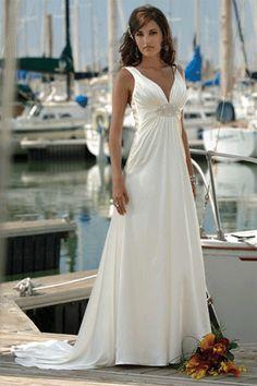 Simple Beach Wedding Dresses | simple beach wedding dress design