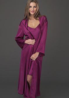 Luxury full-length silk bathrobe - Evening Stroll Silk Robe http   www 57db40c0b