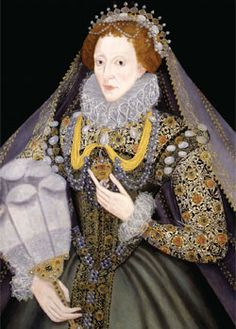 Queen Elizabeth I with a Fan, 1585-1590. She really likes the fan... Well, nobody is perfect.