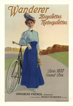 Product Description TITLE: Wanderer Bicyclettes ARTIST: Anonymous CIRCA: 1900 ORIGIN: Germany Fine art giclee print on heavy acid free archival paper using 100+ year fade resistant inks. POSTER SIZING