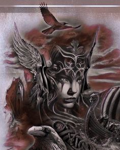 image by Discover all images by Find more awesome valkyrie images on PicsArt. Viking Tattoo Sleeve, Norse Tattoo, Sleeve Tattoos, 3d Tattoos, Schulterpanzer Tattoo, Rabe Tattoo, Samoan Tattoo, Polynesian Tattoos, Kracken Tattoo