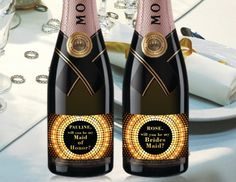 Golden Dotted Mini Champagne Labels by LabelByLoveArts on Etsy