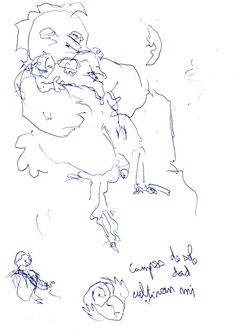 """Apunte: Garramantxo 090   Apunte  """"Garramantxo 090""""  Garabato 090  Bolígrafo sobre papel  148 x 209 cm  2001  Barcelona  apunte: garabato libro 2001-08 / 2002-01"""