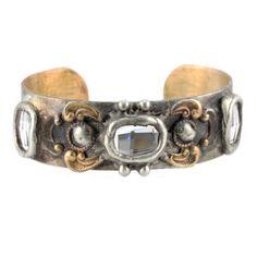Mikal Winn Cuff Brass, Silver and Swarovski Crystals — available at rocksandsilk.com and at Rocks & Silk at Fred Segal Santa Monica