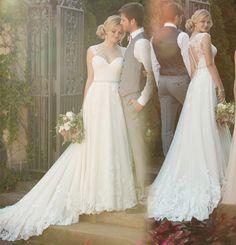 ... Design Spitze Lange Brautkleid Sweetheart Sleeveless Durchsichtig
