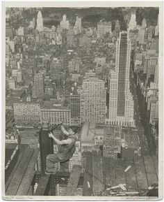 vintage empire state building construction photos by lewis wickes hine 1931 (9)