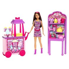Barbie Sisters Popcorn and Souvenirs Playset